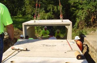 image of a culvert being installed